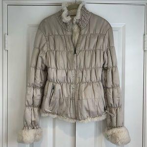 June genuine rabbit fur coat